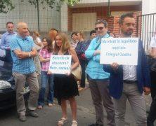 PROTEST AM DEUTSCHEN GOETHE KOLLEG IN BUKAREST
