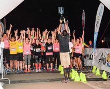 Laufwettbewerb bei Nacht