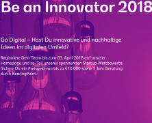 BE AN INNOVATOR 2018: INNOVATIVE TEAMS GESUCHT!
