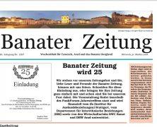 """WEITERE 25 JAHRE """"BANATER ZEITUNG"""""""
