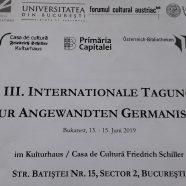 III. INTERNATIONALE TAGUNG ZUR ANGEWANDTEN GERMANISTIK IN BUKAREST