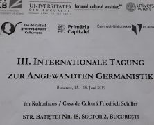 III. INTERNATIONALE TAGUNG ZUR ANGEWANDTEN GERMANISTIK IN BUKAREST