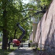 Sanierungsarbeiten an der Stadtmauer