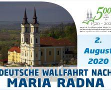 Deutsche Wallfahrt nach Maria Radna 2020